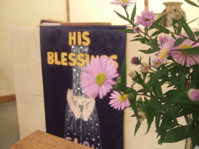 His blessings flow